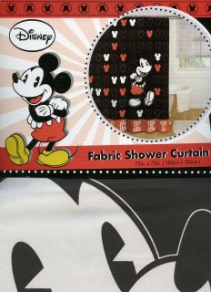 Disney Mickey Mouse Classic Cool Shower Curtain 72x72 183cm x 183 cm