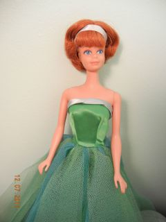 Midge Doll Barbie Friend 1966 Bendable Legs Senior Prom Dress
