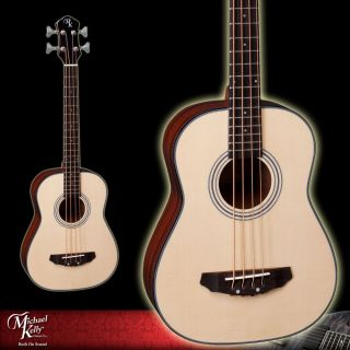 Michael Kelly Natural Sojourn 4 Travel Acoustic Bass Guitar   With Gig