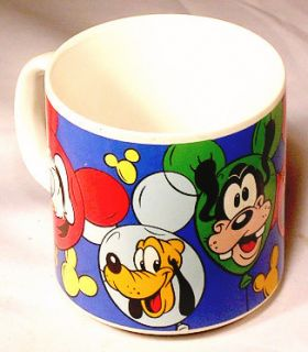 Mickie Minnie Pluto Donald Goofy Walt Disney Cartoon MUG Cup Balloons