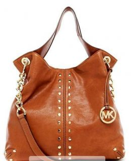 Michael Kors Large Luggage Uptown Astor lambskin Leather Shoulder Tote