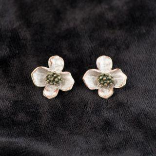 Dogwood Flower Post Earrings Michael Michaud Jewelry