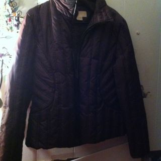 Michael Kors Womens Brown Quilted Puff Jacket