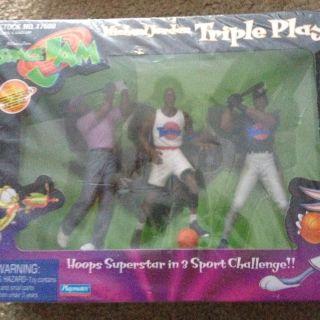 Michael Jordan Triple Play Collectors Figure Set Warner Bros Looney