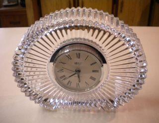 Mikasa Diamond Fire Crystal Clock Mantle Clock