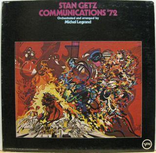 Stan Getz Communications 72 ORG Jazz LP Michel Legrand