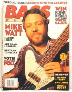 1995 Bass Player Guitar Magazine Mike Watt Hamer Bass