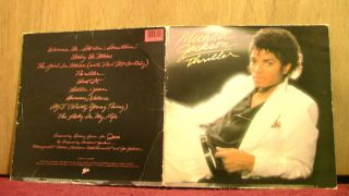Michael Jackson Thriller Album Cover Only No Record