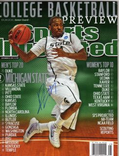 Kalin Lucas Michigan State Spartans Signed SI MAGAZINE1