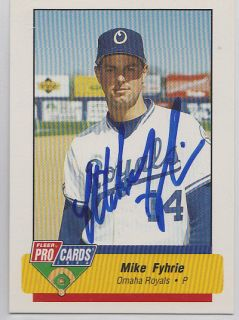Mike Fyhrie 1994 Pro Cards minor league AAA Kansas City Royals SIGNED
