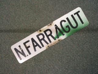 Vintage N Farragut Street Sign Bay City Michigan