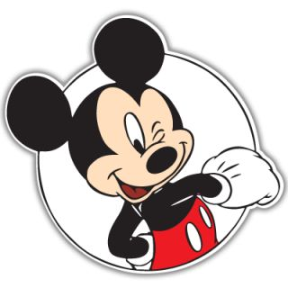 Mickey Mouse Wink Car Bumper Sticker Decal 5 x 5