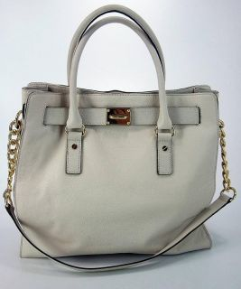 Kors Womens Hamilton Vanilla Gold Chain Tote 30F91HMT3L Handbag Purse
