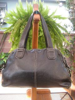 MICHAEL MICHAEL KORS Heavily Used BLACK PEBBLED LEATHER Doctor bag