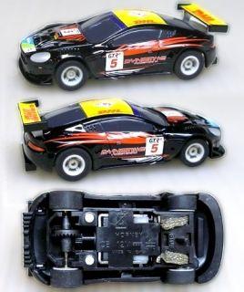 2007 Micro Scalextric Aston Martin DBR9 HO Slot Car Blk