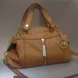 Michael Kors Moxley Leather Satchel Tan Brown BNWT Bag Purse New $398