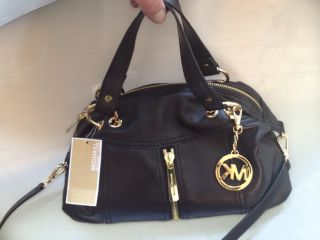 Michael Kors Moxley Leather Satchel Black BNWT Bag Purse New $398