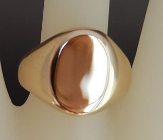 Estate Unisex Tiffany Co 585 14kt Yellow Gold Signet Ring
