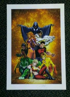 MICHAEL TURNER ART   TEEN TITANS #1 PRINT ART BY TURNER & STEIGERWALD