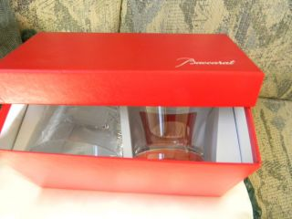 Bette Midler Set of Baccarat Glasses Very Hard to Find New in Box WOW