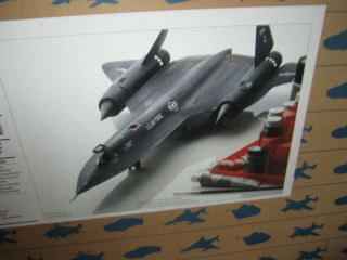 SR 71 Blackbird Military Aircraft Model Kit Jet Bomber Plane