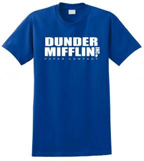 The Office TV Series Dunder Mifflin Tee T Shirt Funny