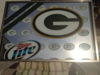 Green Bay Packers NFL Miller Lite Mirror 37x25