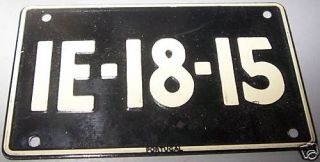 1953 General Mills Wheaties Portugal Mini License Plate