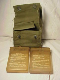WWII US Navy Aviator Pilot AirCrew Emergency Survival Kit w/ Pouch PBY