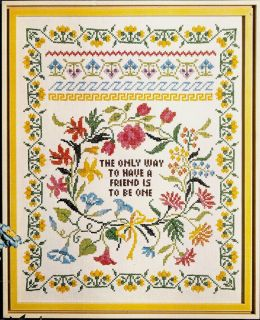 Columbia Minerva The Way to Have a Friend Sampler Stamped Cross Stitch
