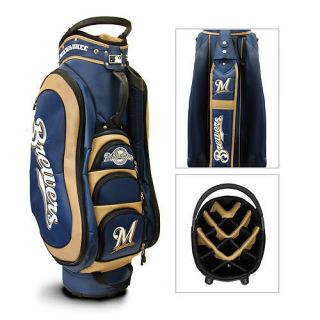 Milwaukee Brewers Medalist Golf Cart Bag Team Golf