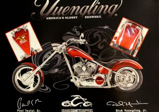 Oldest Brewery Orange County Choppers Red Motorcycle Mini Poster Sign