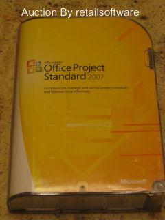 Microsoft Office Project Standard 2007, Full Retail Sealed Box, Std PN