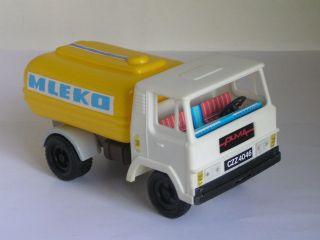 VINTAGE 70s MILK TANKER TRUCK LORRY CAR TUG TIN PLASTIC TOY PUMA 8 LKW