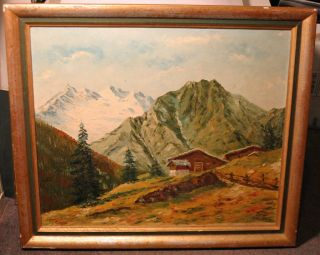 Hans Wagner of Germany Framed Original Knife Oil Painting