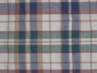 Longaberger Woven Traditions Plaid 27 x 16 Fabric