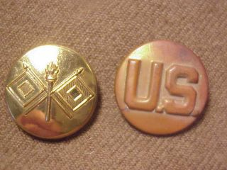 WWII US Army Signal Corps Uniform Jacket Coat Collar Brass World War