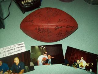 autographed football cleveland browns 24 signatures lots of hall of