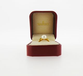 Mikimoto Pearl Ring 18K Yellow Gold Hallmarked Size 6