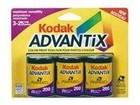 Kodak Advantix 200   Color print film APS ISO 25 exposures 3 rolls