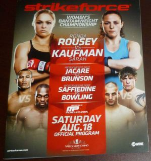 Sarah Kaufman 2012 Official Strikeforce Program w Miesha Tate