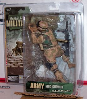 McFarlane Military Army M60 Gunner Figure VHTF