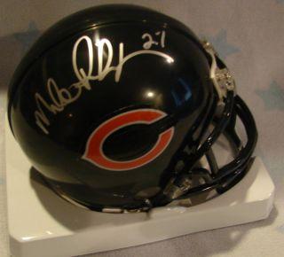 Mike Richardson Chicago Bears Signed Mini Helmet SBXX
