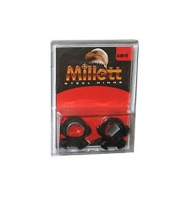 Millett Angle Loc Scope Rings 1 Low Matte Weaver Style