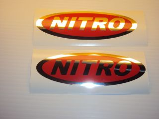 Tracker Nitro 6 in Mirror Chrome Red Boat Decals Pair Tracker Decals