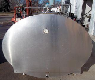 Mueller OH59631 800 Gallon Stainless Steel Bulk Milk Tank