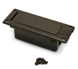 SIDE MOUNT 9 VOLT GUITAR BASS BATTERY BOX w SPRING LOADED DOOR EP BOX