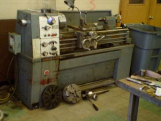 Millport engine lathe gap bed,13x 40 ,4 jaw, face plate, collet system