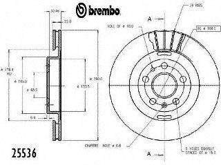 Brembo 25536 Disc Brake Rotor