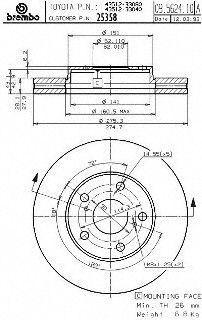 Brembo 25358 Disc Brake Rotor